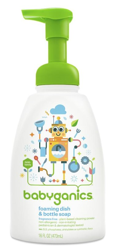Babyganics Fragrance Free Foaming Dish and Baby Bottle Soap, 16 Ounce