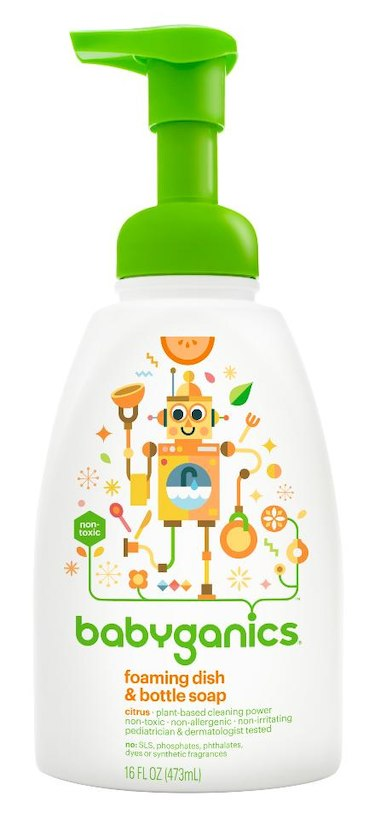 Babyganics Foaming Dish & Bottle Soap The Dish Dazzler Citrus, 16 Ounce