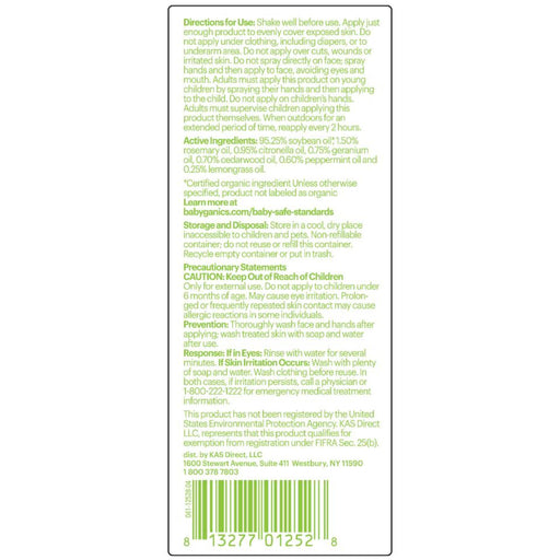Babyganics Natural Insect Repellent, 6 Ounce