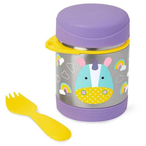 Skip Hop Baby Zoo Little Kid and Toddler Insulated Food Jar and Spork Set Unicon