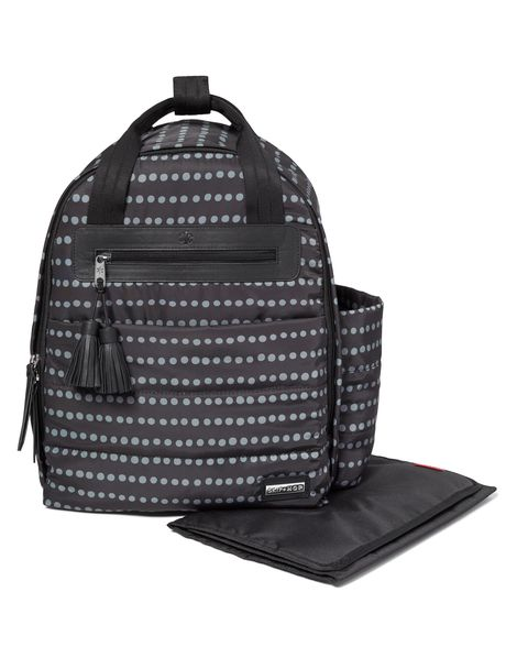 Skip Hop Riverside Ultra Light Diaper Backpacks - Black Dot