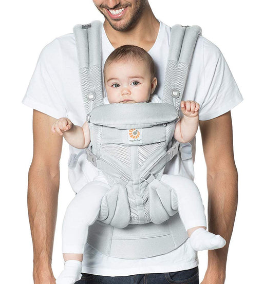 Ergobaby Carrier Omni 360 All Carry Positions Baby Carrier with Cool Air Mesh - Pearl Grey