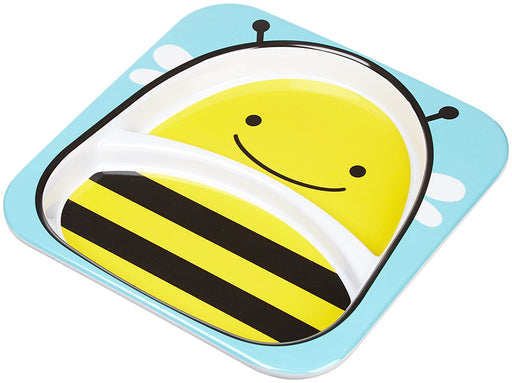 Skip Hop Baby Zoo Little Kid and Toddler Melamine Feeding Divided Plate Bee