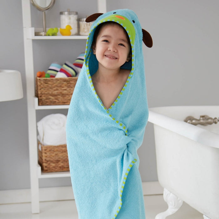 Skip Hop Zoo Infant & Toddler Hooded Towel & Mitt Washcloth Set Dog