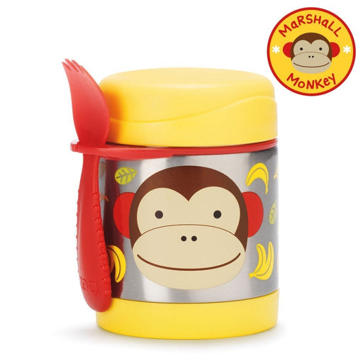 Skip Hop Baby Zoo Little Kid and Toddler Insulated Food Jar and Spork Set Monkey