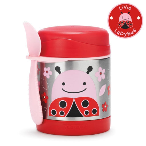 Skip Hop Baby Zoo Little Kid and Toddler Insulated Food Jar and Spork Set Ladybug