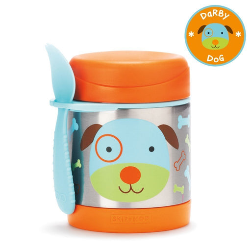 Skip Hop Baby Zoo Little Kid and Toddler Insulated Food Jar and Spork Set Dog