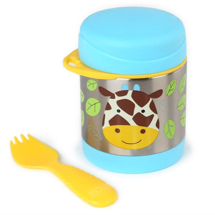 Skip Hop Baby Zoo Little Kid and Toddler Insulated Food Jar and Spork Set Giraffe