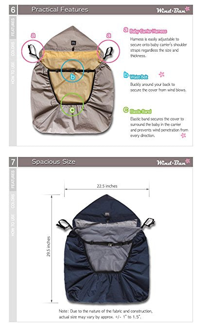 Manito Wind-Ban Baby Carrier Windbreaker Blue