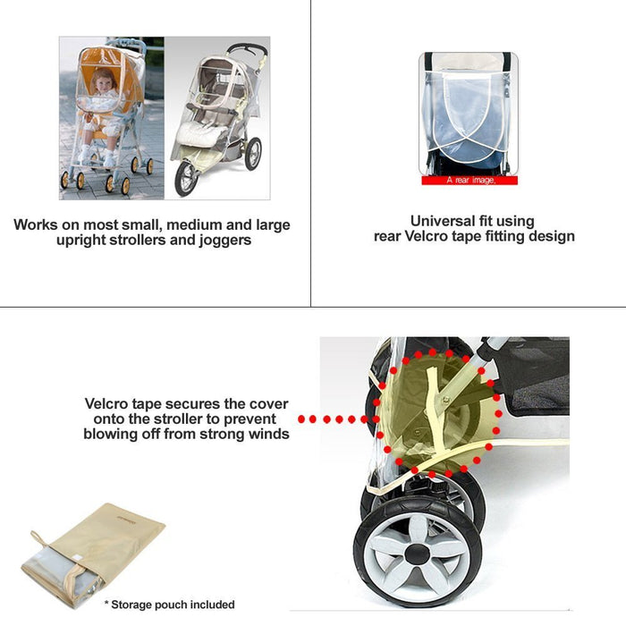 Manito Essence Stroller Weather Shield Wind / Rain Cover, Clear