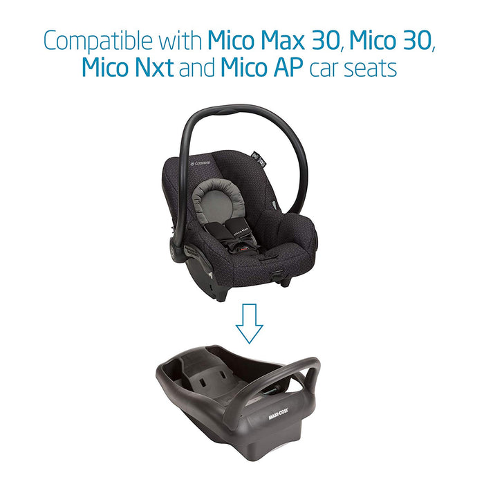 Maxi-Cosi Mico Max 30 or Mico 30 Stand Alone Infant Car Seat Base w. Rebound Protection (Black)