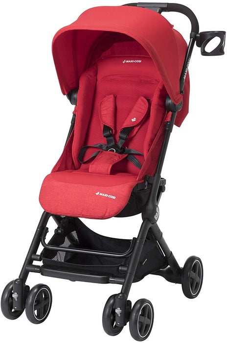 Maxi-Cosi Lara Ultra Compact Stroller, 14 lb, One Hand Fold & Unfold, Nomad Red