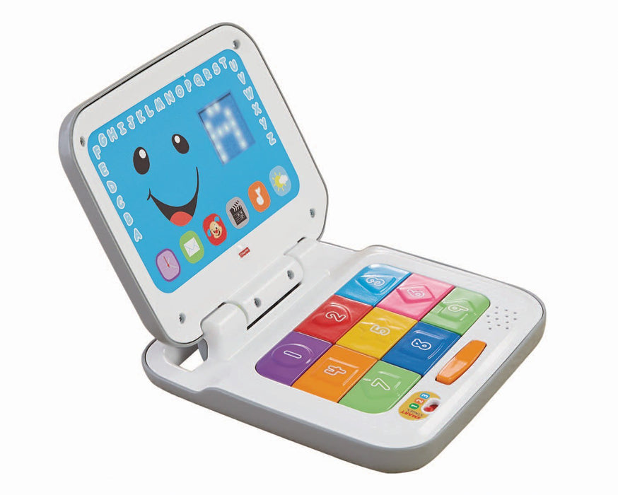 Fisher Price, Laugh & Learn Smart Stages Laptop, Grey/White
