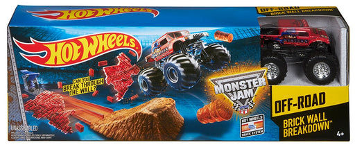 Hot Wheels Monster Jam Brick Wall Break Track Set CCP72