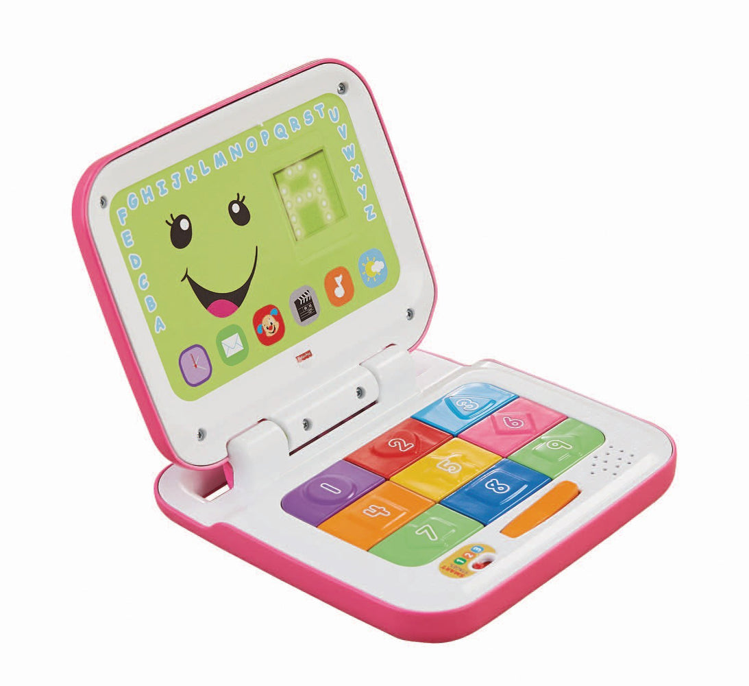 Fisher Price, Laugh & Learn Smart Stages Laptop, Pink/White