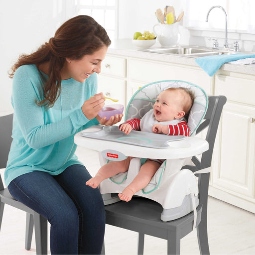 Fisher Price, Deluxe Spacesaver High Chair, Safari Dreams Collection