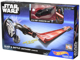Hot Wheels Star Wars Blast & Battle Lightsaber Launcher Kylo Ren Vehicle DYH27