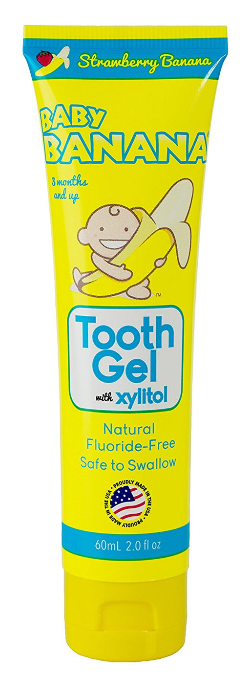 Baby Banana Tooth Gel, 2 Ounce Strawberry Banana Flavor