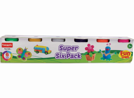 Funskool Fun Doh Exciting Super 6 Pack