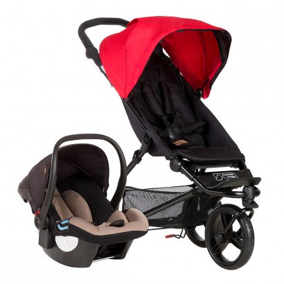 Mountain Buggy Mini Lightweight Travel System - Berry