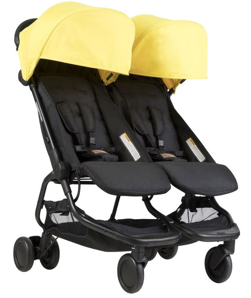 Mountain Buggy Nano Duo Buggy Double Stroller - Cyber/Yellow