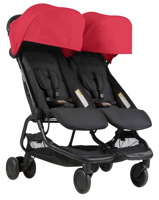 Mountain Buggy Nano Duo Buggy Double Stroller - Ruby/Red