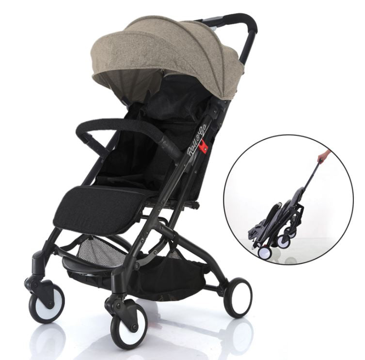 Babyroues Light Weight Stroller Triple Fold Roll u0026 Go Tan Canopy/ Black Frame  sc 1 st  Baby Mommi & Babyroues Light Weight Stroller Triple Fold Roll u0026 Go Tan Canopy ...
