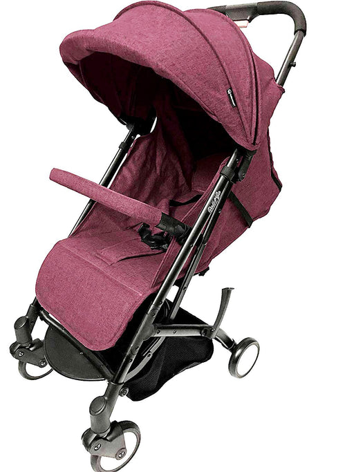 Babyroues Light Weight Stroller Triple Fold, Roll & Go, Full Rust Red