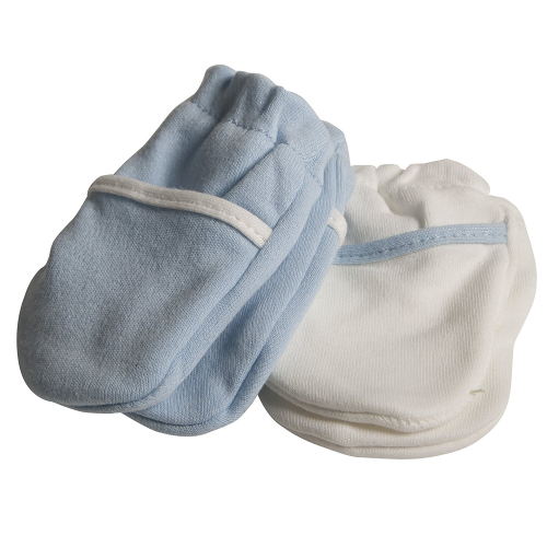Safety 1st No Scratch Mittens, New Born, Blue