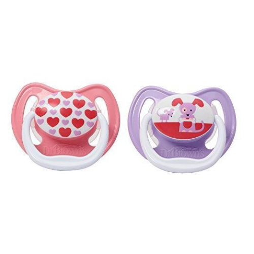 Dr. Brown's PreVent Classic Pacifier, 0-6 Month, Assorted Pattern