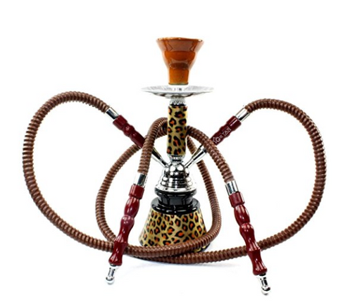 "GSTAR Premium Series: 11"" 2 Hose Hookah Complete Set - Cheetah Leopard Tiger Animal Skin Art w/ Optional Carrying Case"