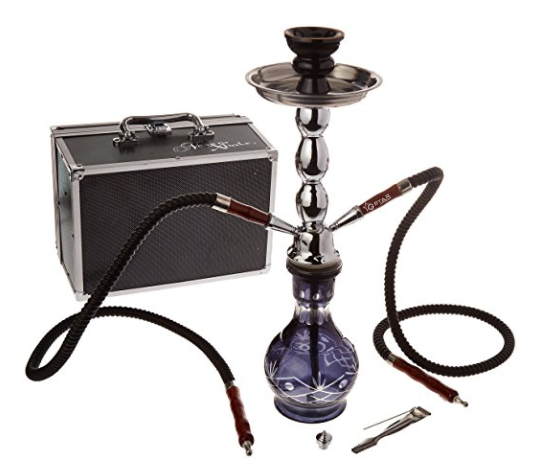 "GSTAR Deluxe Series: 18"" 2 Hose Hookah Complete Set w/ Travel Case"