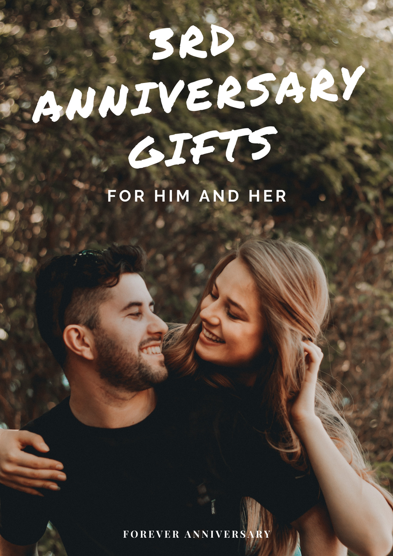 3rd Anniversary Gifts for Him and Her