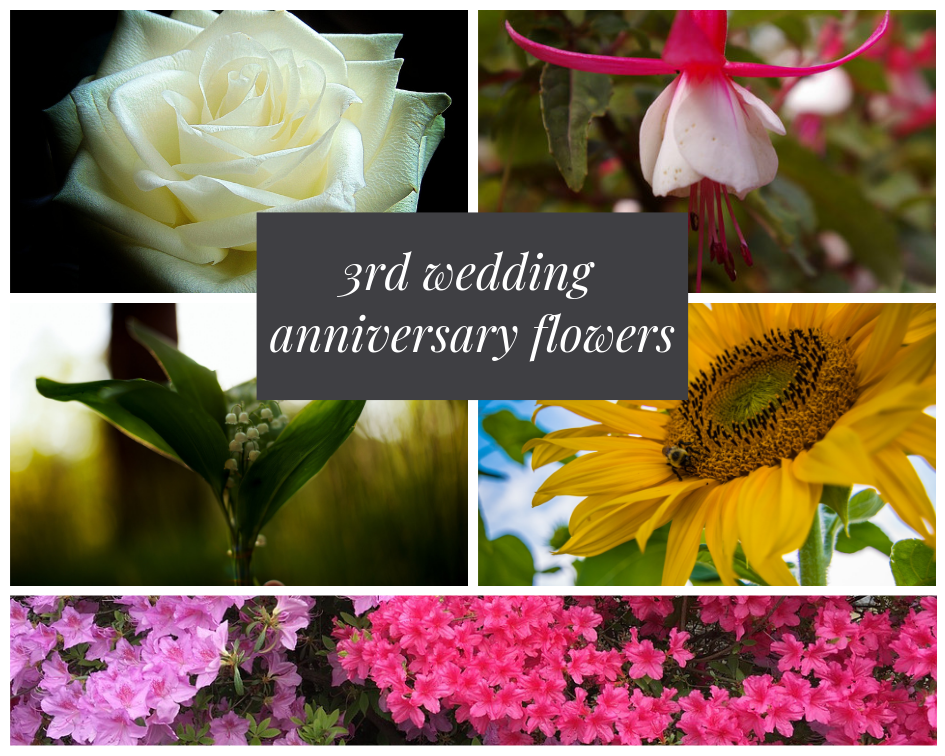 3rd wedding anniversary flower