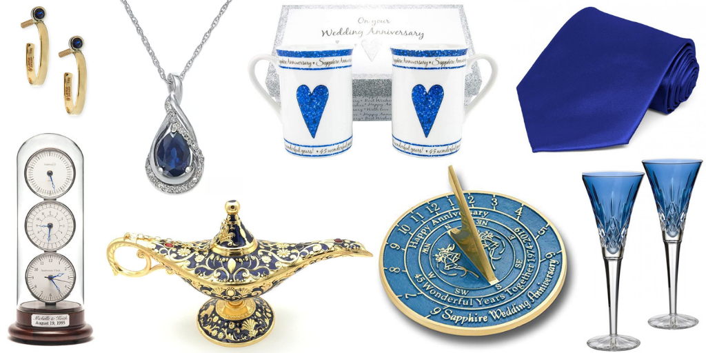 45th wedding anniversary gift ideas