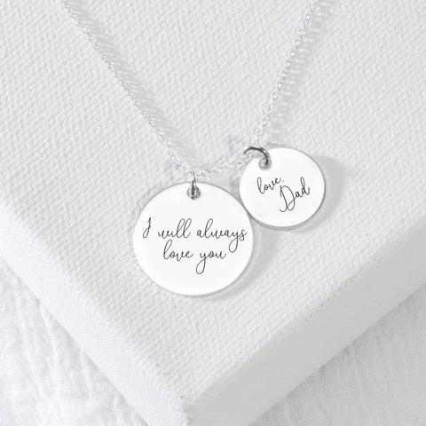 actual handwriting necklace