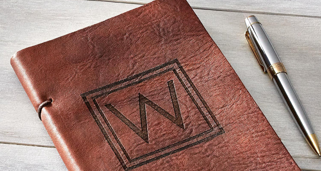Paper Anniversary Gift Custom Leather Journal