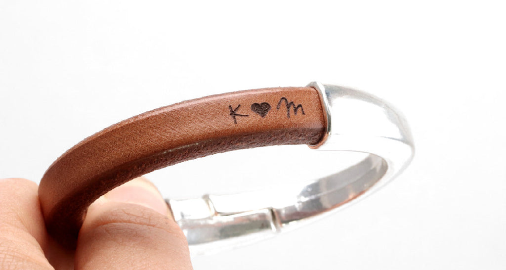 Leather Anniversary Gift For Her Bracelet
