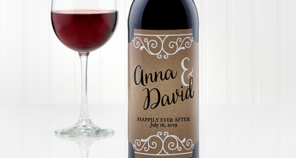 Paper Anniversary Gift Custom Wine Label