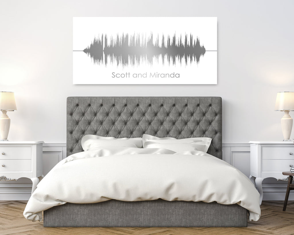 10th Anniversary Canvas- Personalized Sound Wave Canvas