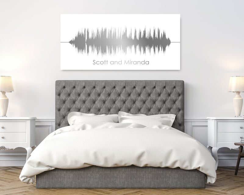 11th Anniversary Gift- Personalized Sound Wave Canvas