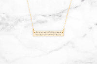 14K Gold Sheet Music Necklace- 50th Anniversary Necklace