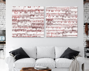 40th Anniversary Gift- Sheet Music Canvas