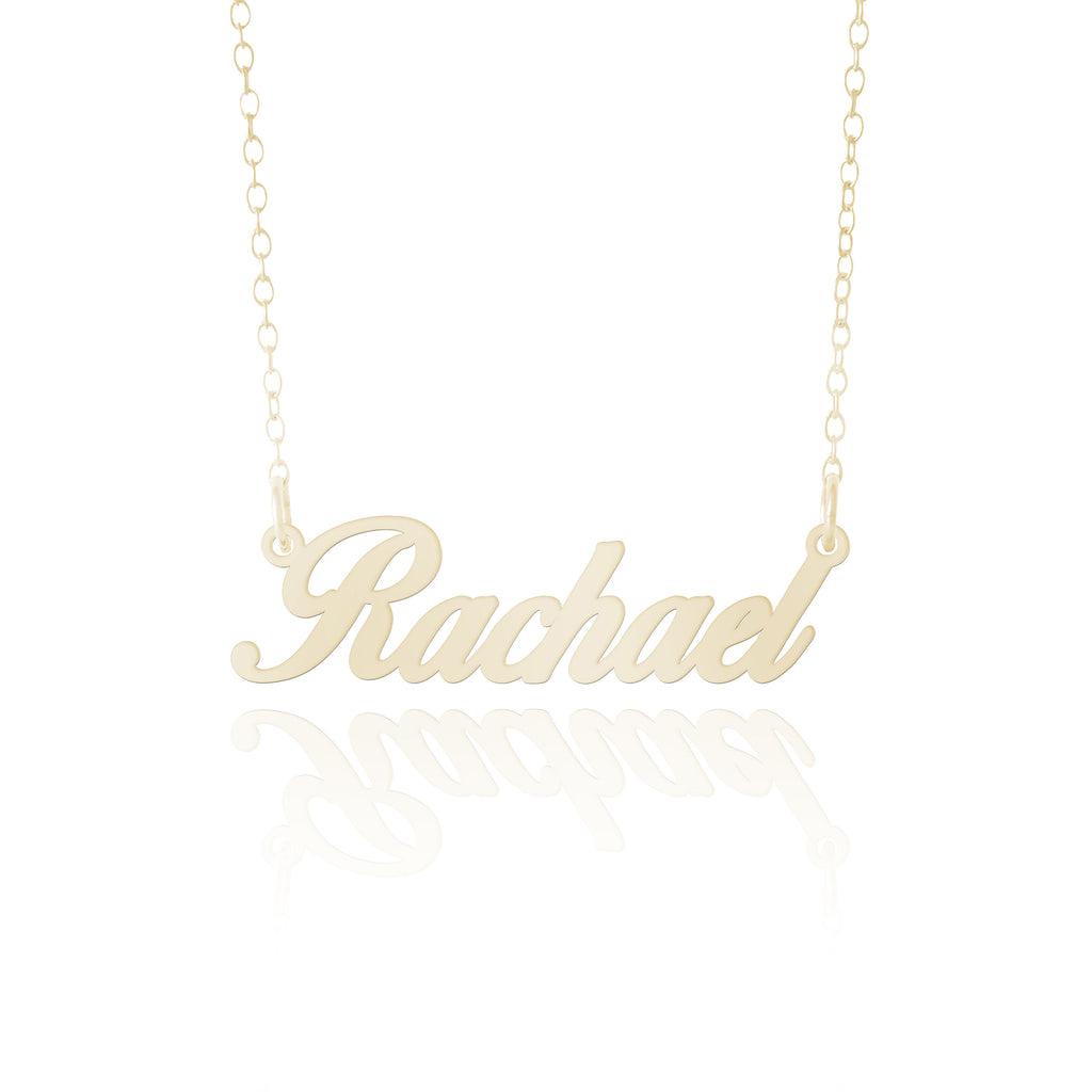 50th Anniversary Gift- Personalized Gold Name Necklace