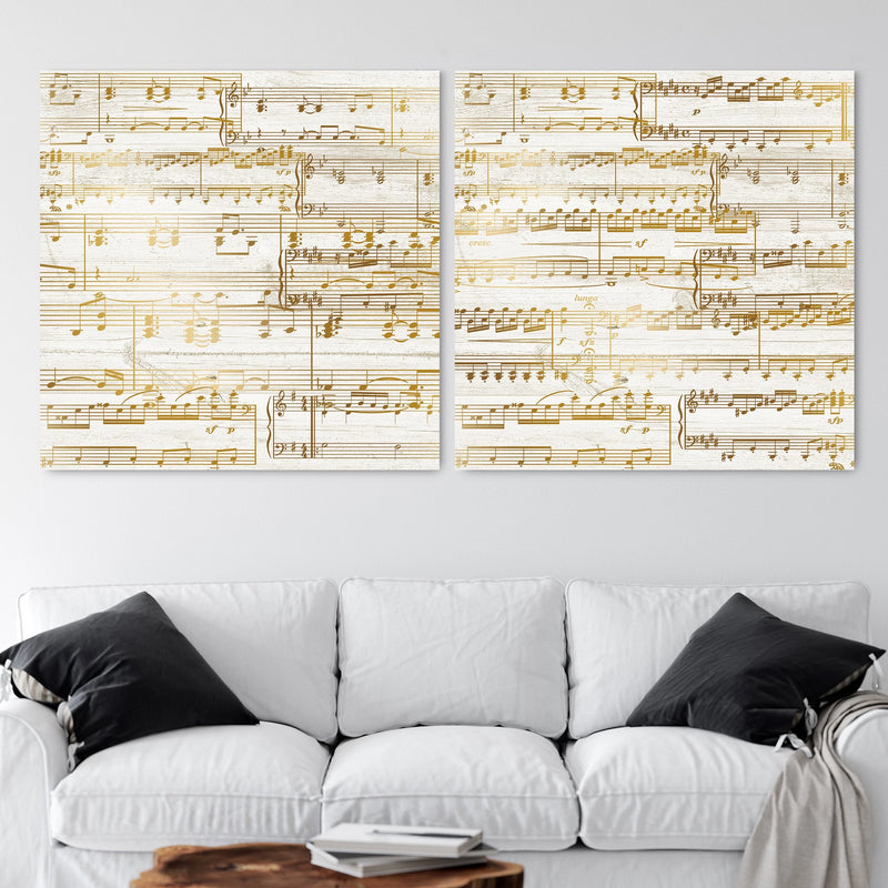 Custom Gold Sheet Music Canvas - 50th Anniversary Gift