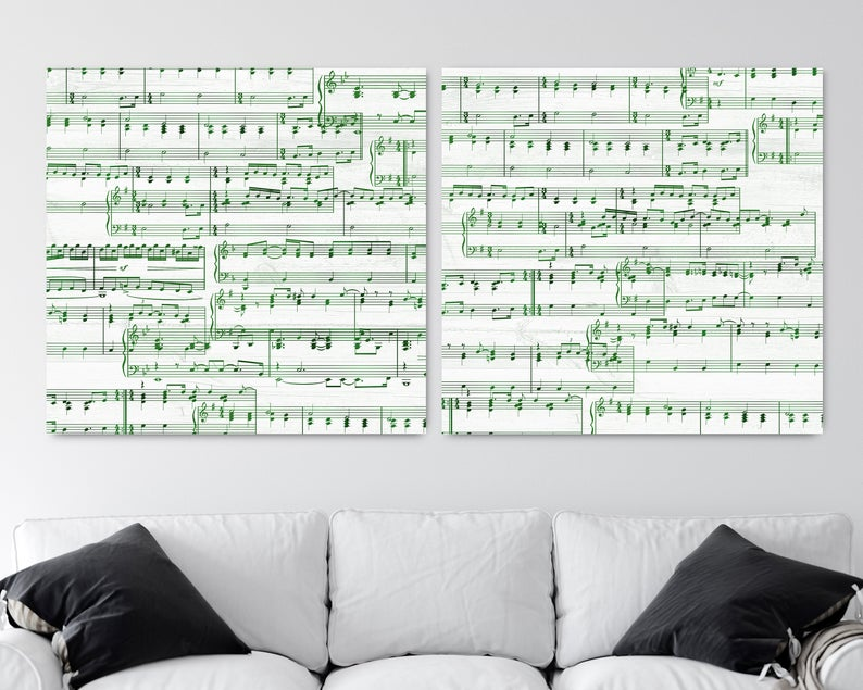 55th Anniversary Gift- Sheet Music Canvas