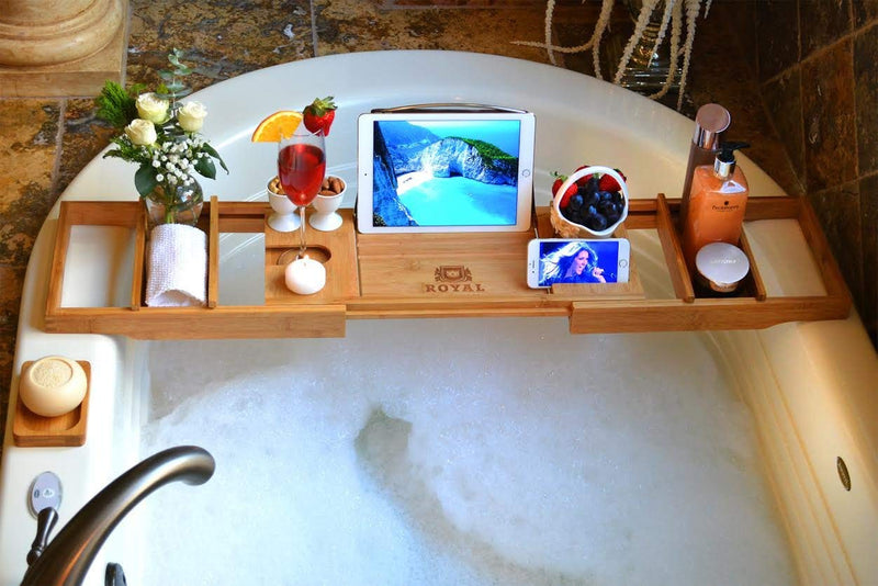 Bamboo Wood Bath Caddy