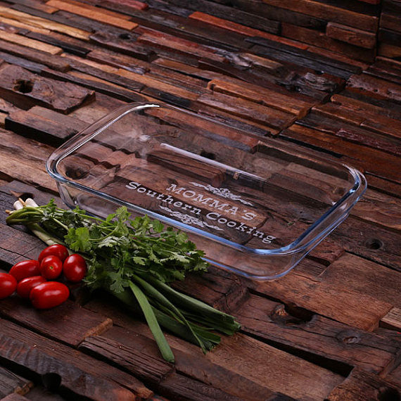 Glass Baking Dish Set - Personalized