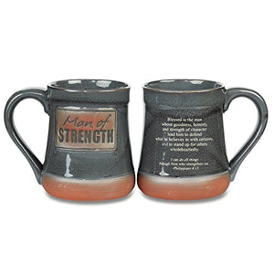 Coffee Mug For Him- Man of Strength Mug