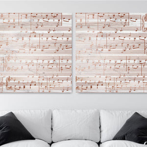 Copper Anniversary Gifts- Personalized Sheet Music Canvas Print